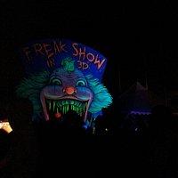 Entrance to freak show 3d