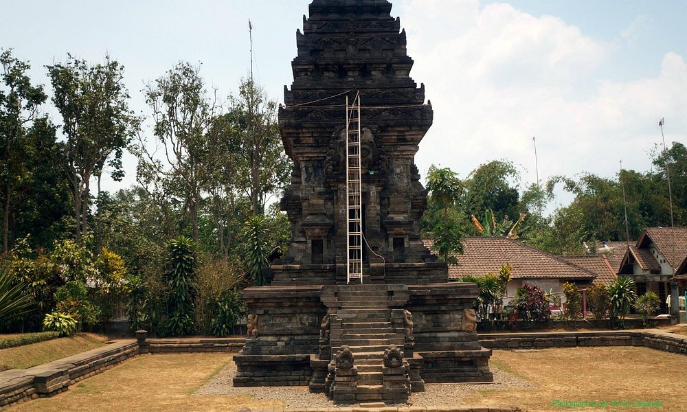 Facade of Candi Kidal, with the annoying ladder.