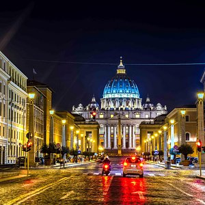 St Peters at night.