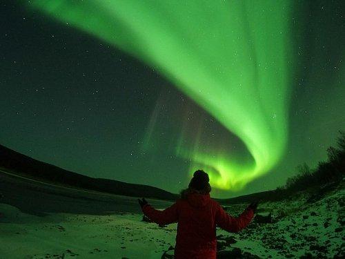 Under the Northern Lights in Utsjoki, Finland