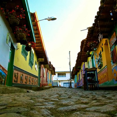 Discover Guatape's typical streets