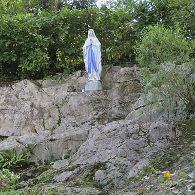 A statue of Our Lady that stands near the holy well.