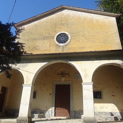"Church-shrine of ""Madonna del Piastraio"": front view."