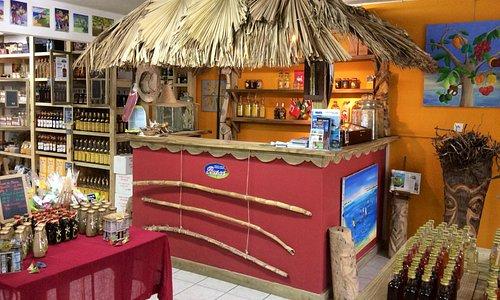 Cabane de dégustation de la boutique Busco