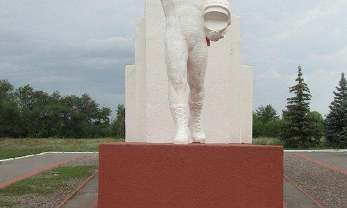 Монумент на месте приземления Гагарина