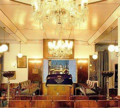 İnterior view of Bet Avraam Synagogue