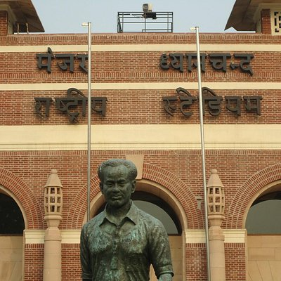 The stadium and the legend Major Dhyan Chand after whom the stadium is named.