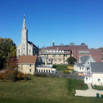 View from the light station of St. Mary's Church and School.