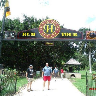 Entrance to the Hapden Estate Rum Tour