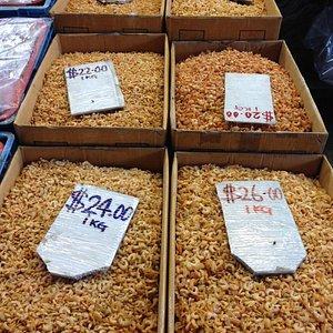 Dried shrimp at a wholesale market