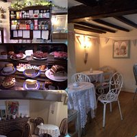 tea rooms and cake cabinet