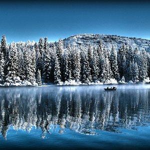 Snow at Hume Lake