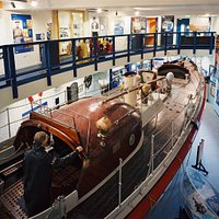 The lifeboat inside the museum.