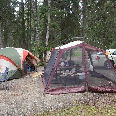 Camping at Paint Lake provincial park