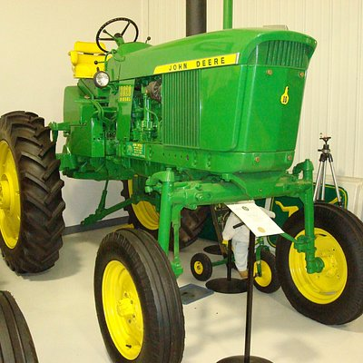 One of the many John Deer tractors on display