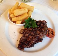 Steak and chips, cooked to perfection