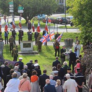 70th anniversary battle commemoration, Sherwood Rangers Yeomanry Memorial, Vernon, France, Aug 2