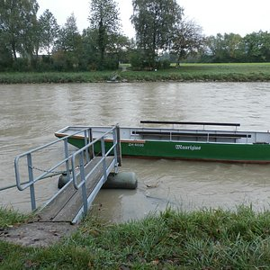 Boat crossing to Kloser Fahr operates on Sunday afternoons