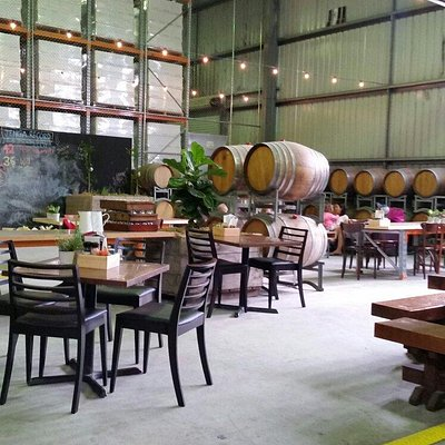 Lunch in the Barrel Hall