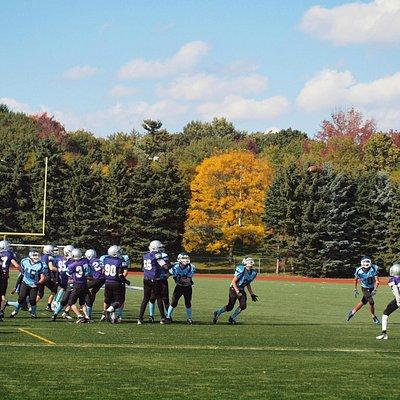 rep football game at Birchmount Stadium
