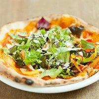 京野菜とピザのコラボ