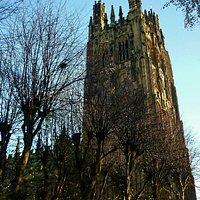 The steeple @ St. Giles Church