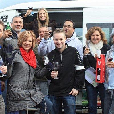 The folks from Computer Mania enjoying Wacky Wine Weekend in Robertson
