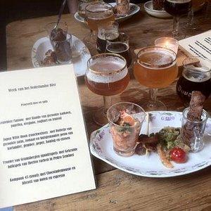"""One-time only menu during """"week van het Nederlandse bier"""""""