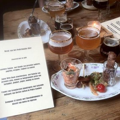 "One-time only menu during ""week van het Nederlandse bier"""