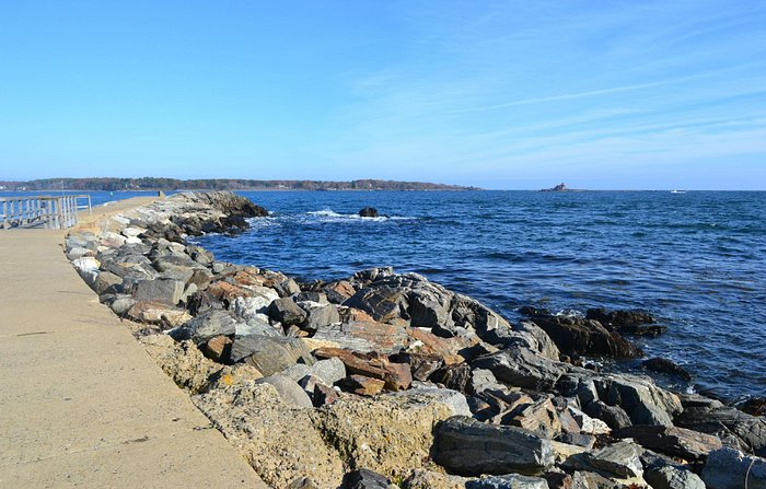 Looking Across the Water to Fort Foster in Kittery, ME