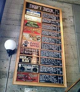 Beer menu at 21st Amendment