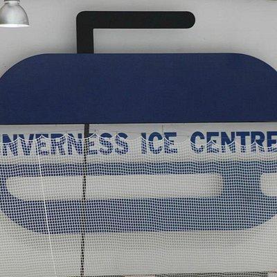 A curling stone logo