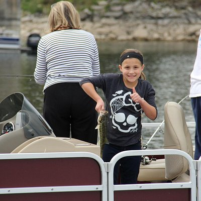 Happy Fishing Times for the whole family in our Fishing Pontoon!