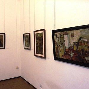 Trabalho exposto de um artista de Montevidéu, capital do Uruguai, 1.