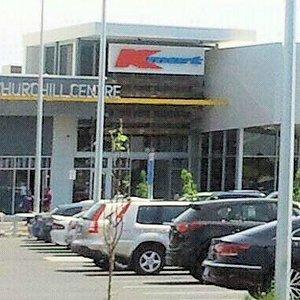 Entrance through vast car-park Churchill Centre