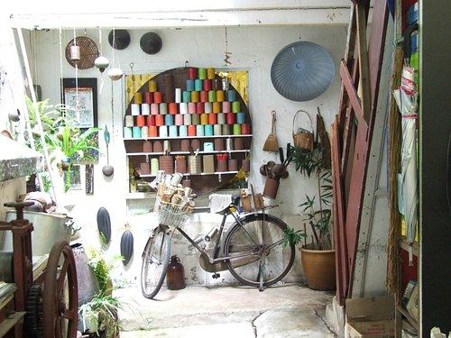 back of shop work shop area