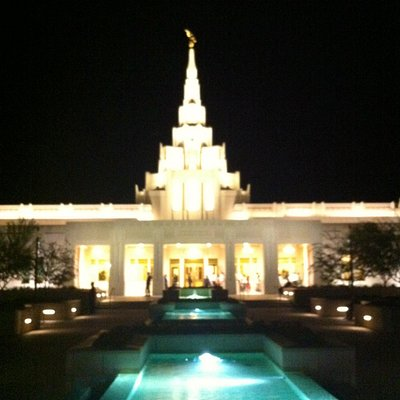 Phoenix Temple at night