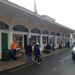 Butcher's Row next to the market