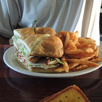 Oyster Po Boy and fries
