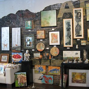 eclectic local and regional artwork