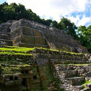 Temple of the Jaguar at Lamanai Mayan Site