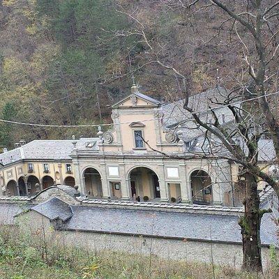 Il santuario visto dall'alto