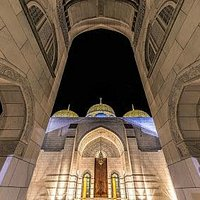 The magnicificient domes of Mohammad Al Ameen Mosque in Muscat