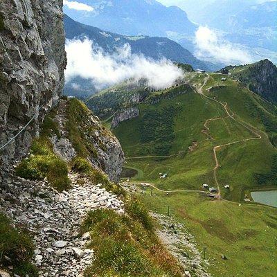 looking down towards La Berneuse