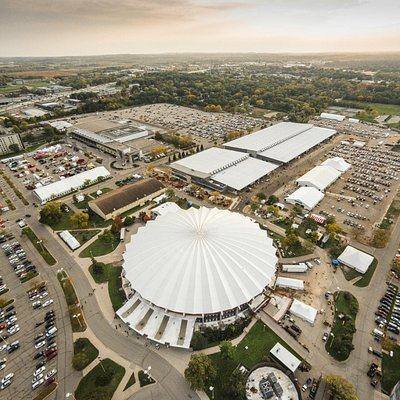 Aerial during World Dairy Expo 2014