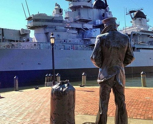 The guy looking at the ship