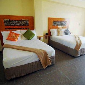 1 Queen & 1 Double Beds in every room