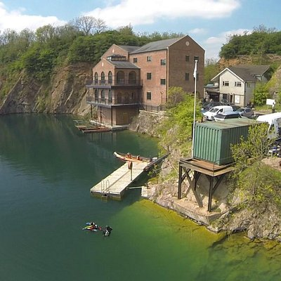 Our main building. Home to Underwaterworld, The Diveschool, and our Technical Services Team