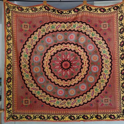 Embroidered Druse Designs Incorporated into Halabi Anter Druse Fabric