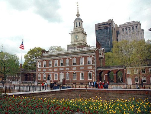 Chestnut Street facade of Independence Hall